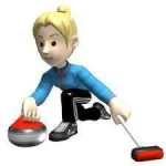 mobiele curlingbaan