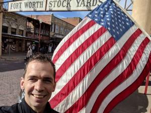 Deze foto is genomen bij Fort Worth Stockyard, vlakbij Dallas Texas